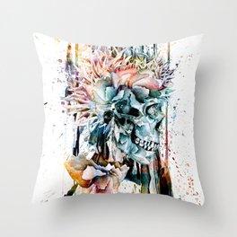 SKULL N-II Throw Pillow