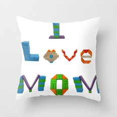 I Love Mom Throw Pillow