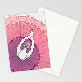 Pink Ballerina Stationery Cards