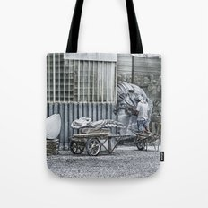 Marble Sculptor in Italy Tote Bag