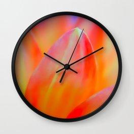 Dreamy Orange Petals Wall Clock