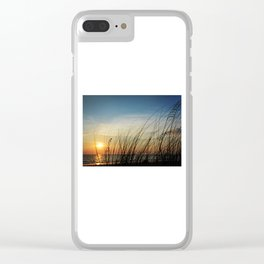 Sunset through the sea weeds Clear iPhone Case