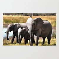 elephants Area & Throw Rugs featuring Elephants by Regan's World