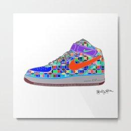 Airforce 1 Air Pop Art Sneakers 4th Edition Metal Print