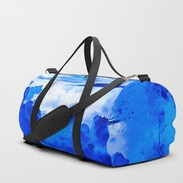 cloudy sky blue turquoise splatter watercolor Sporttaschen