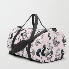 Pearla the Mermaid on Pink Duffle Bag