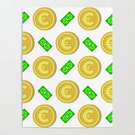 Euro pattern background. Poster