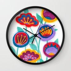 raw flower garden Wall Clock