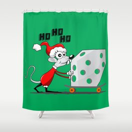 MOUSE CHRISTMAS Shower Curtain