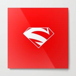 super man logo Metal Print