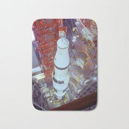 Vintage Photograph of Saturn V Bath Mat