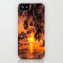 Trees By The Lake Sunset iPhone Case
