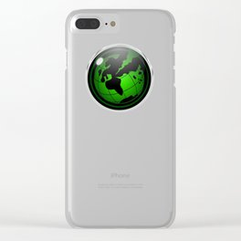 Seismic Earth Emblem Clear iPhone Case