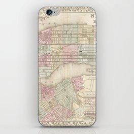 new york city old map iPhone Skin