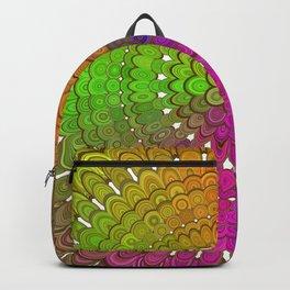 Colorful Floral Mandala Backpack