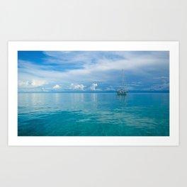 Sailboat on Calm Water Art Print