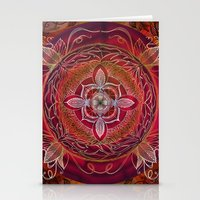 chakra Stationery Cards featuring Root Chakra by brenda erickson
