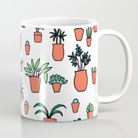 plants Mugs featuring Plants by Kittymacdraws