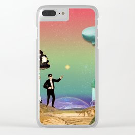 the magician in the land of mushrooms Clear iPhone Case