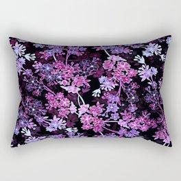 Pink & Purple Floral Pattern Rectangular Pillow