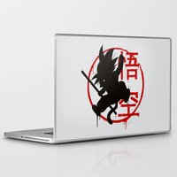 goku Laptop & iPad Skins featuring Jump Goku by le.duc