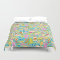 baking Duvet Covers featuring Baking pattern by Calidurge