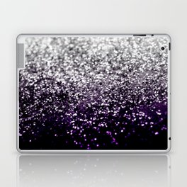 Dark Night Purple Black Silver Glitter #1 #shiny #decor #art #society6 Laptop & iPad Skin