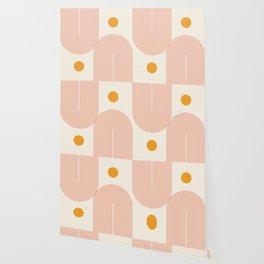 Abstraction_SUN_DOUBLE_LINE_POP_ART_Minimalism_001C Wallpaper