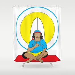 Surf Religion Shower Curtain
