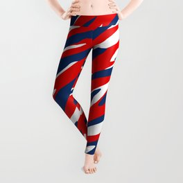 Red, White and Blue Patriotic Pattern Leggings