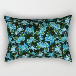 Butterfly's in a Spring Garden at Night Rectangular Pillow
