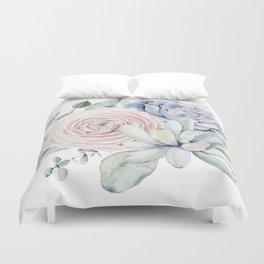 Succulent Blooms Duvet Cover