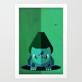 Minimalistic Bulba Poke Art Print