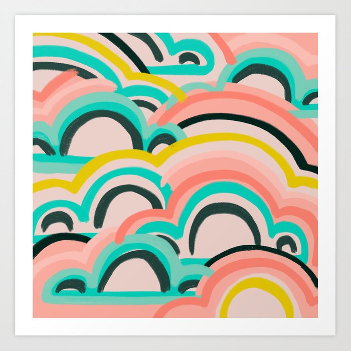 mostly cloudy Art Print