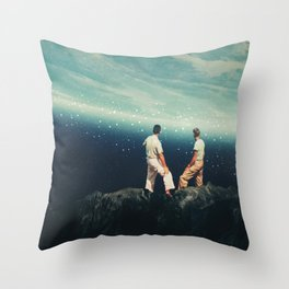 The Earth was crying and We were there Throw Pillow