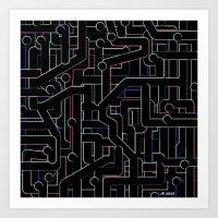 City Circuitry / Stadtkreise Art Print