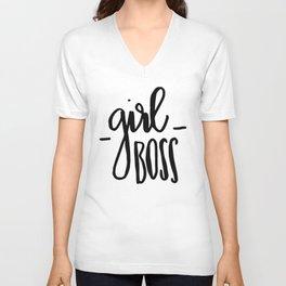 Girl Boss Unisex V-Neck