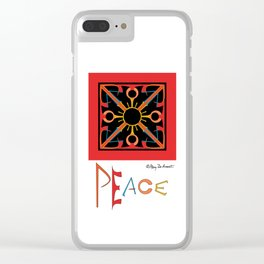 Peace is Warm Clear iPhone Case