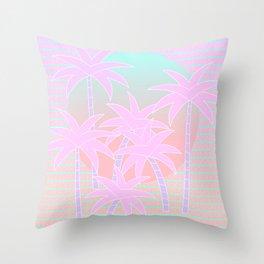 Hello Miami Sunrise Throw Pillow