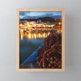 Fishing harbour Framed Mini Art Print