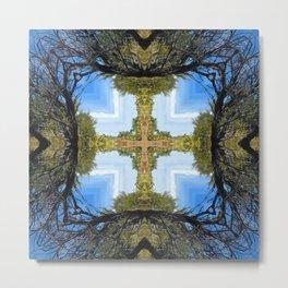 Kaleidoscope Cross on the Trail Metal Print