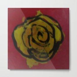 Yellow Rose Red Kids Art Painting  Metal Print