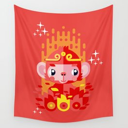 Fire Monkey Year Wall Tapestry