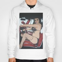 pin up Hoodies featuring Pin Up by Classic Mixup Art
