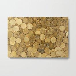 Euro Coins Metal Print