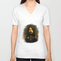 sofa V-neck T-shirts featuring Dave Grohl - replaceface by replaceface