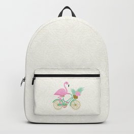 Tropical Flamingo Bike Backpack
