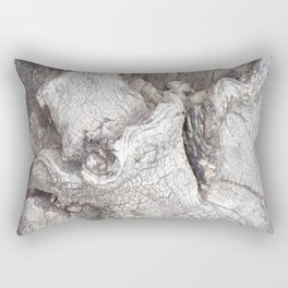 Fabulous Old Gnarled Tree Knot, Old Grey Tree, Woderful Texured Tree Rectangular Pillow
