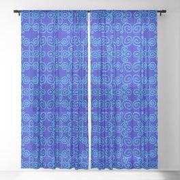 Indigo Batik Sheer Curtain