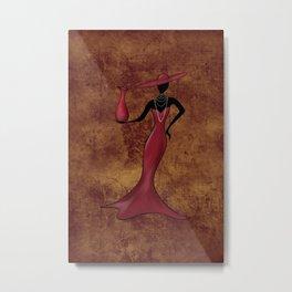 Lady in Red, original background Metal Print